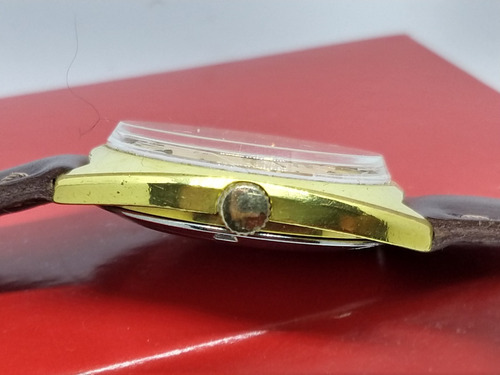 bulova swiss masculino automático banhado ouro 18k top