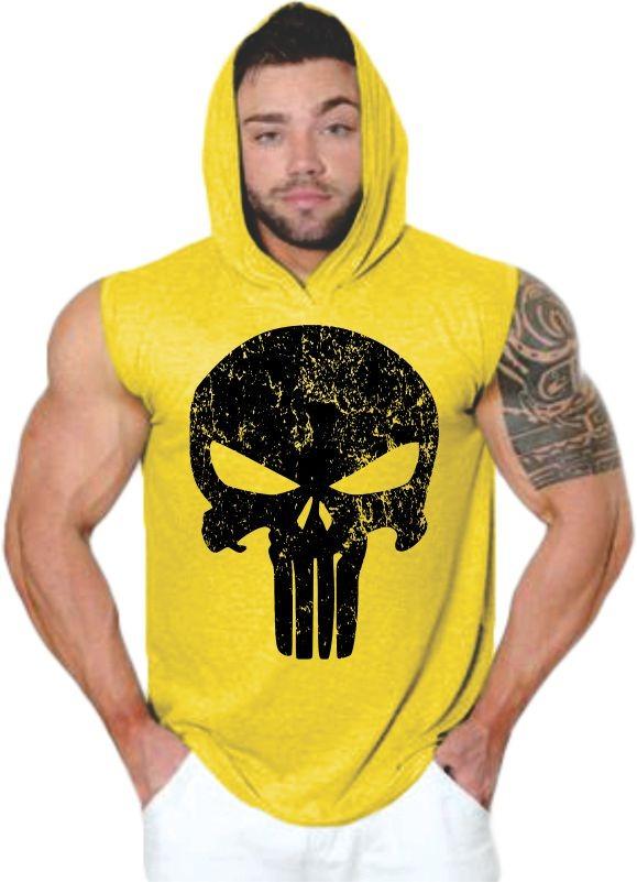 bulsa homem camiseta regata machão com capuz justiceiro. Carregando zoom. b46f908bc41