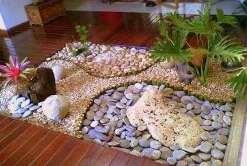Bulto 10 kg piedra boleada m rmol amarilla decoraci n - Comprar piedras jardin ...