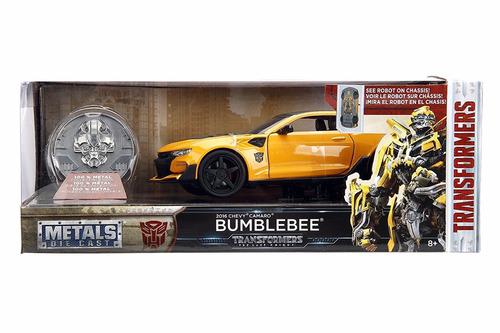 bumblebee camaro - auto coleccion- 1:24 - metalico - jada