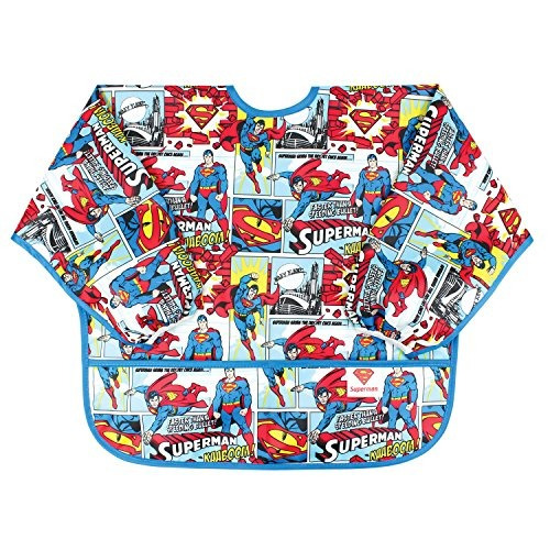 bumkins dc comics manga impermeable babero, superman comic