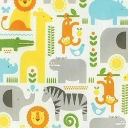 bumkins petit collage impermeable con mangas babero, safari