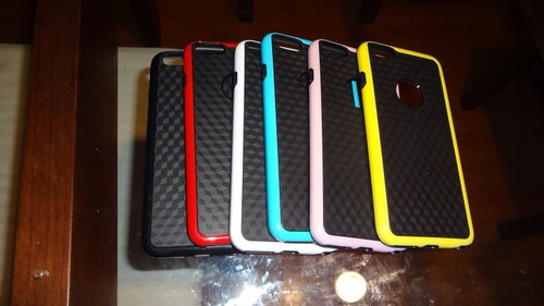 bumper 3d carbon iphone 6s + lamina templada 0.33mm