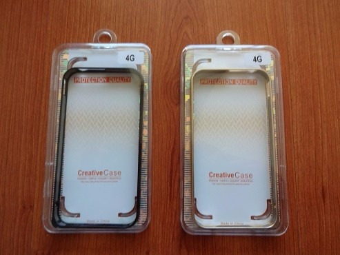 bumper aluminio iphone 4, 4s + lamina vidrio templado