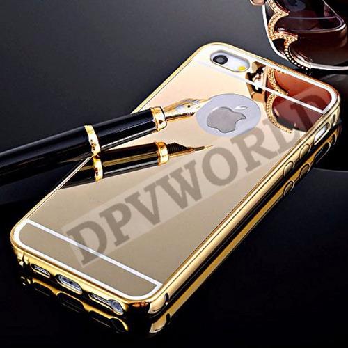 bumper aluminio iphone 5 5s se protector posterior espejo