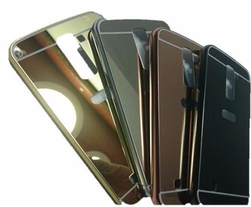 bumper aluminio protector lg k10  de lujo tipo espejo