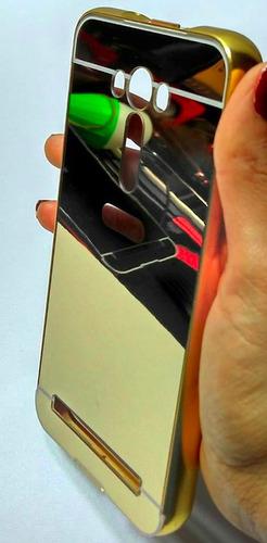 bumper aluminio + templado asus zenfone 2 laser ze551kl
