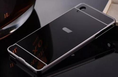 bumper aluminio tipo espejo protector sony xperia  z5