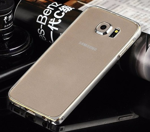 bumper capa alumínio galaxy s6 g920i + película pet