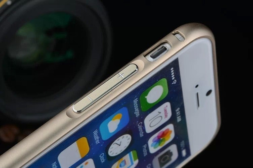 bumper capa alumínio iphone 6 6s 4.7 + vidro frente e verso