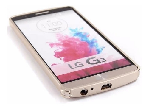 bumper capa capinha alumínio lg g3 + película pet