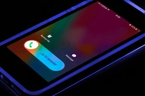 bumper case flash led iphone 7 varios colores
