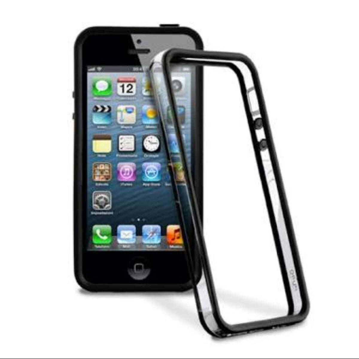 c90b845e629 Bumper Case Para iPhone 5/5s/5c/se + 2 Películas De Vidro - R$ 15,00 em  Mercado Livre