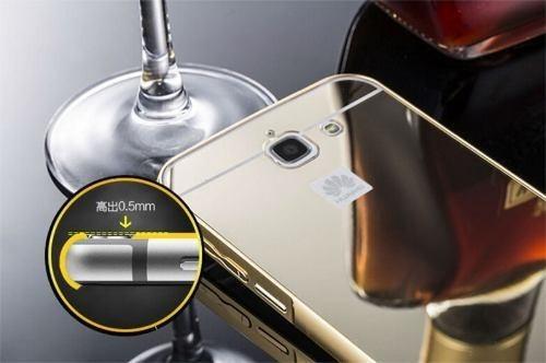 bumper de aluminio huawei ascend g730 de lujo tipo espejo