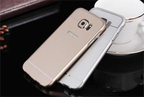 bumper de aluminio samsung s7 edge de lujo + screen curvo