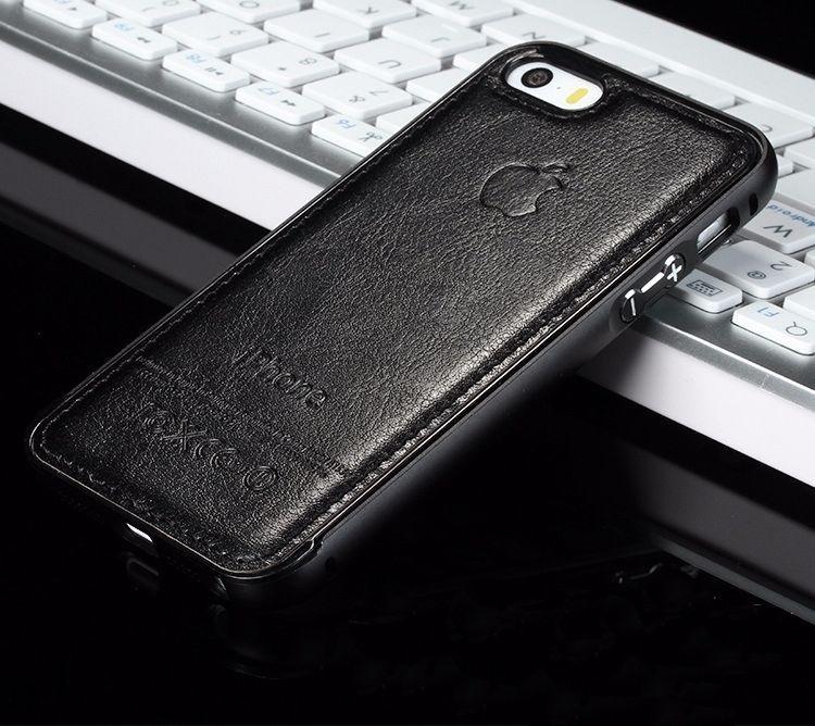 16c35653434 bumper de lujo piel y aluminio iphone (6 6s) plus logo apple