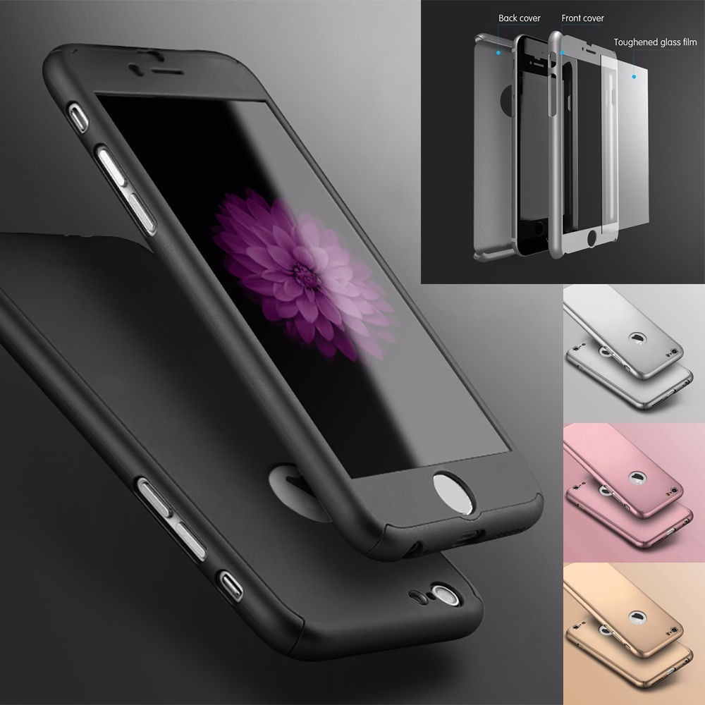 bumper funda case iphone 6 7 y plus 360 cover mica cristal en mercado libre. Black Bedroom Furniture Sets. Home Design Ideas