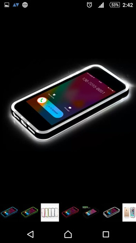 bumper funda iphone 6 6s led