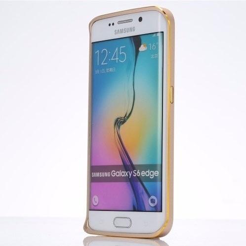 bumper gold samsung galaxy s6 edge estuche case protector