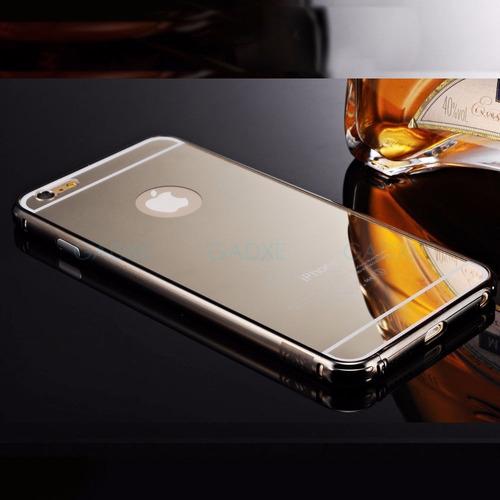 bumper lujo mirror espejo aluminio apple iphone 6 6s