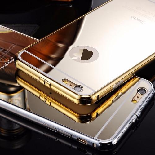 bumper metal case iphone 6 6s 4.7  premium espejo mirror