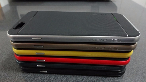 bumper spg para iphone 6s + lamina vidrio templado 0.33mm
