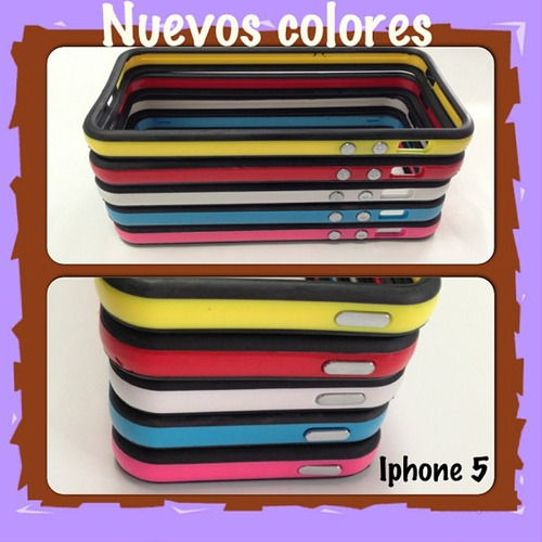 bumpers en colores para iphone 5 / 5s / 5 se