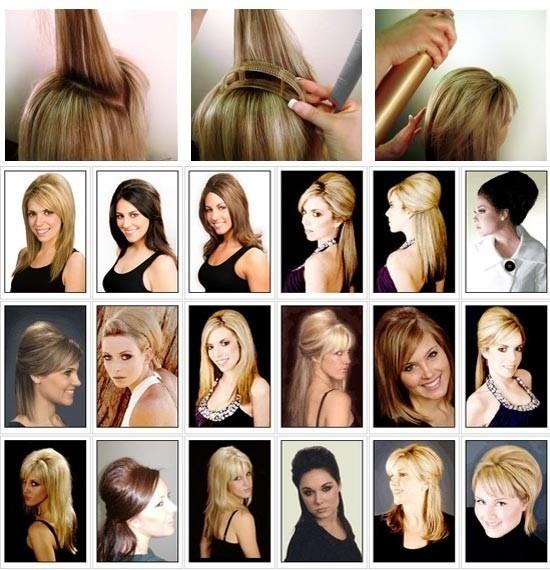 bumpits 05 peças volume cabelos coques penteado presilha r 9 90