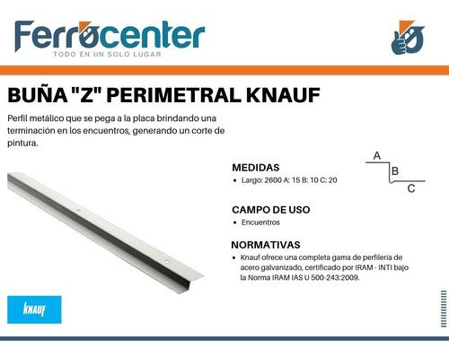 buña z perimetral - perfiles - para construcción en seco