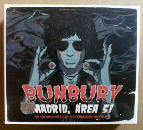 bunbury madrid, área 51 (blu ray) + 2 cd's, 2 dvd's limited