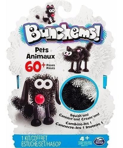 bunchems criações divertidas - kit animais pets creation