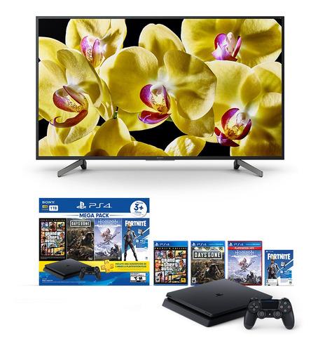 bundle 55'':  smart tv 55 pulgadas + ps4 mega pack 6