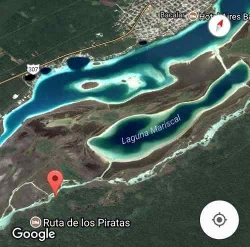 bungalow en pie de laguna en la hermosa bacalar
