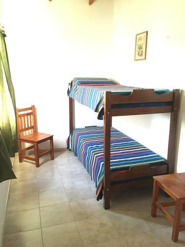 bungalows para hasta 4 personas.