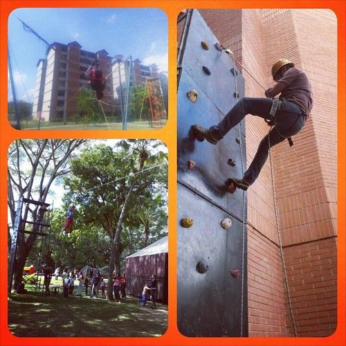 bungee, pared de escalar, futbolito, hockey, slime y mas