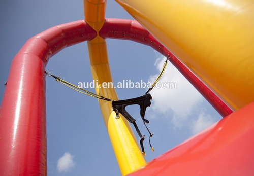 bungee trampolin con arnes