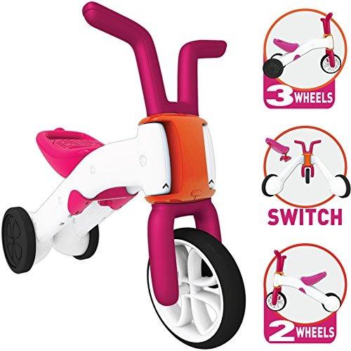 bunzi chillafish 2-en-1 gradual bicicleta de equilibrio y t