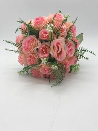 buquê artificial casamento festa de 15 anos rosa clara