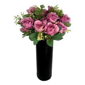 Buque De Rosas Grande Flor Artificial Qualidade E Realismo