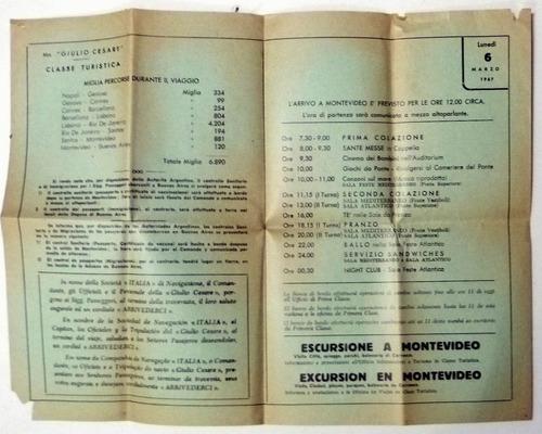 buque julio cesare programa del dia año 1967 (a)