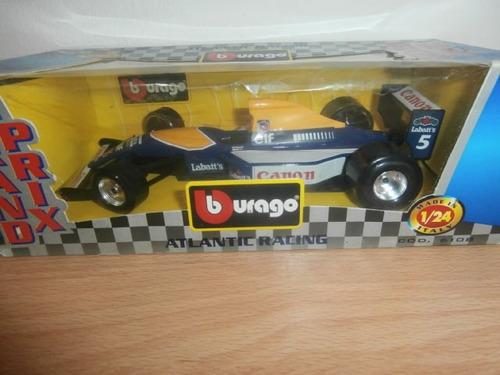burago formula 1 atlantic racing escala 1:24