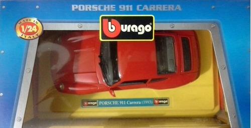 burago porsche 911 carrera 1993 escala: 1/24 (25v)