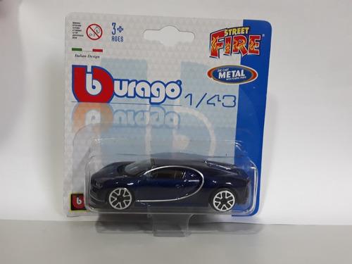 burago street fire - bugatti chiron - escala 1/43