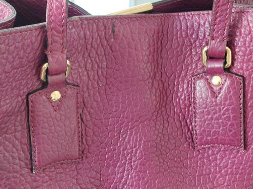 burberry heritage grain bolsa tote piel 100% original usada