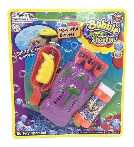 burbujero automatico de mano bubble snap shoot para niños