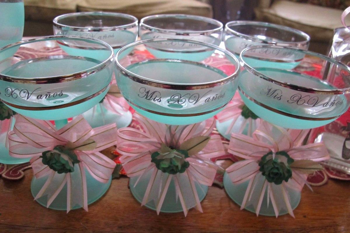 Burbujero de cristal con antifaz para copas de boda xv - Como decorar copas de cristal ...