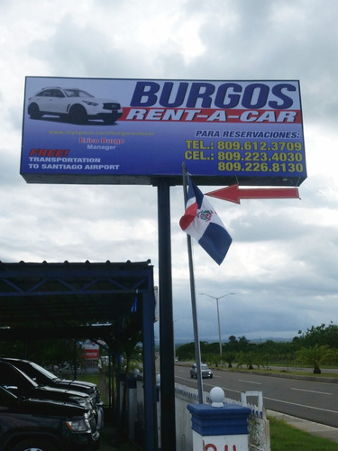 burgos rent, a car, alquiler, jeepetas, autos, santiago r d
