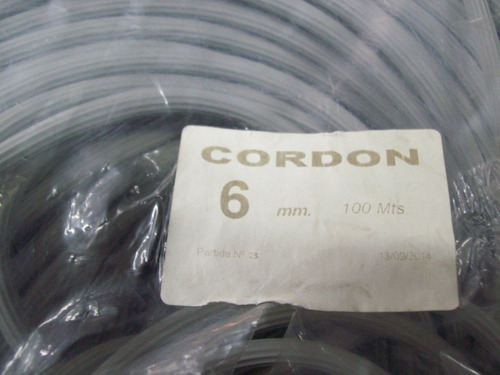 burlete - cordón para mosquiteros 6mm diametro