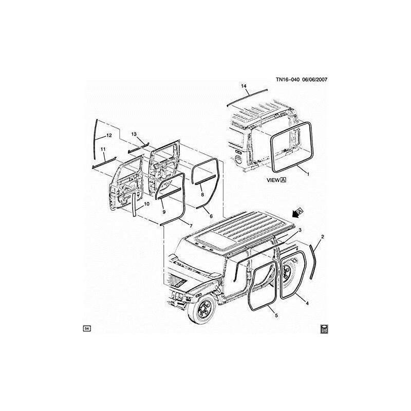 Hummer H2 4x4 Diagram