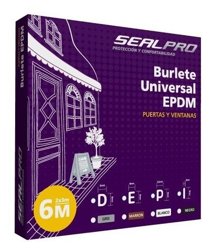 burlete epdm autoadhesivo calidad sealpro 4 metros